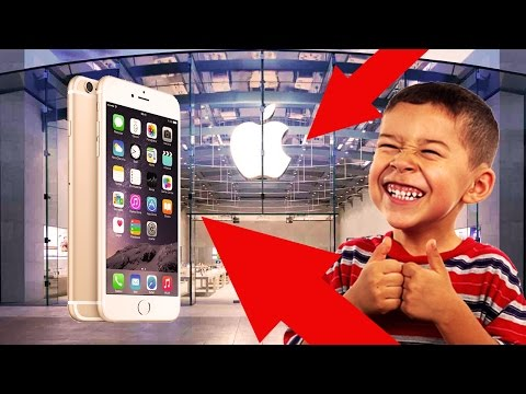 HOW TO GET A FREE IPHONE FROM THE APPLE STORE!!! (Parody)