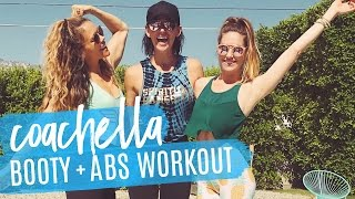 LIVE Coachella Booty 'N Abs Workout! 35 Minutes of PURE TONING!