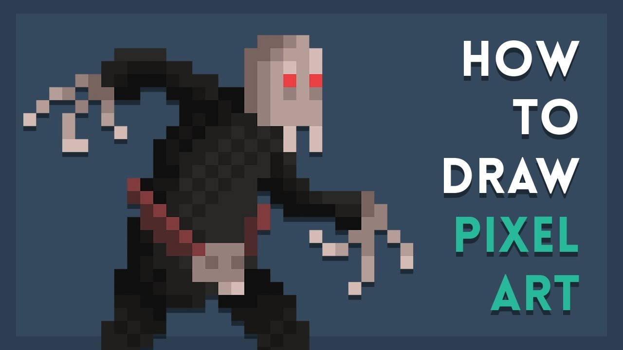 How To Draw Pixel Art Tutorial
