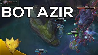 Meteos, Doublelift & Bjergsen - Azir Bot - Dynamic Queue Funny Moments & Highlights