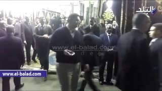 بالفيديو .. حمدين وخالد علي يصلان عزاء 'هيكل'