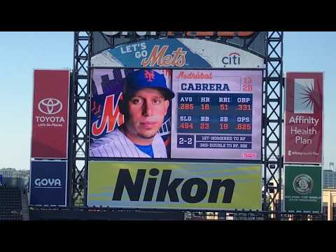 Asdrubal Cabrera Walk Up Songs and Jumbotron Animations 2018