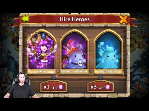 Rolling 50000 Gems For Athene + Talents Android Castle Clash