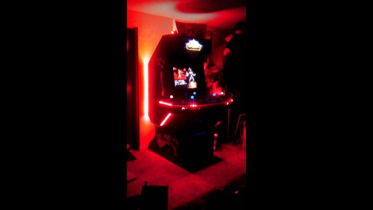 m37r01dz m0dz custom built arcade cabinet led lighting demo cabinet lighting custom