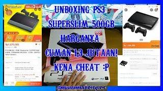 PS3 500GB CUMAN 1,3JUTA! - UNBOXING PS3 SUPERSLIM 500GB DI LAZADA & AKULAKU