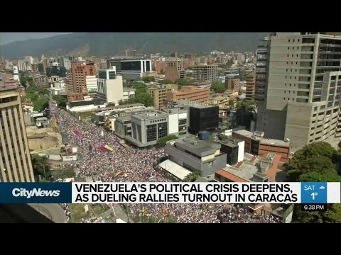Mass protests held in support of Venezuela's opposition leader