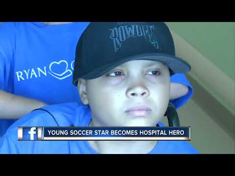 Young soccer star with cancer finds new fame and friends at St. Petersburg hospital
