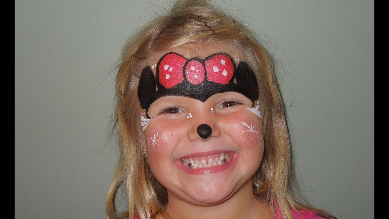 Minnie Mouse Face Painting | Marvelous Masks Chicago Face ...