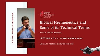 """Biblical Hermeneutics and Some of its Technical Terms"" 