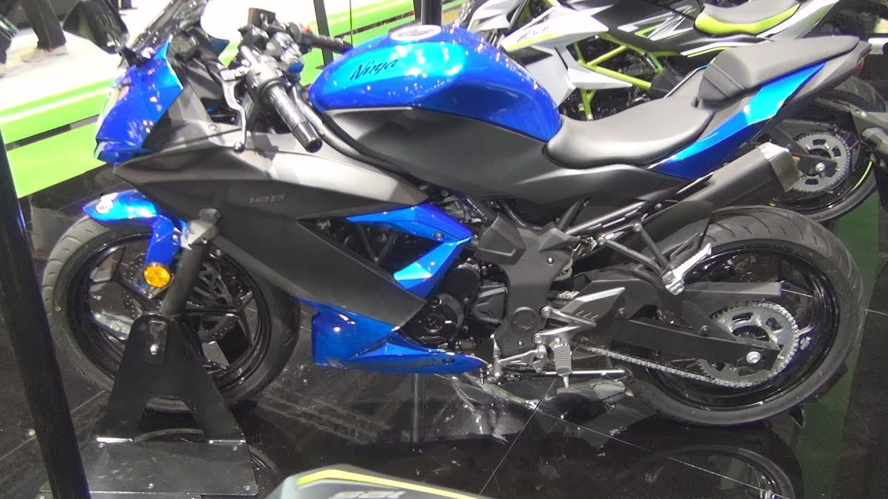Kawasaki Ninja 125 Candy Plasma Blue Metallic Flat Spark Black