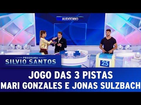 Jogo das 3 Pistas Mari Gonzales e Jonas Sulzbach   Programa Silvio Santos (02/07/17)