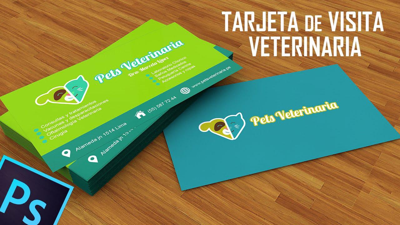 Tarjeta De Presentacion Veterinaria En Photoshop Cc Youtube