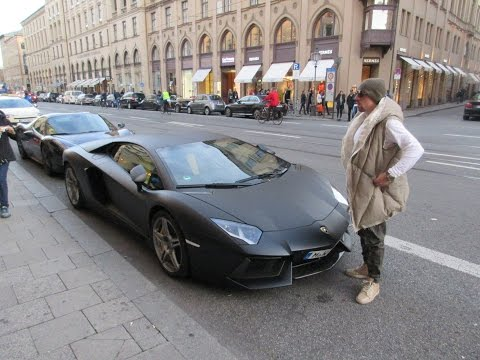Franck Ribery - Lamborghini Aventador LP700-4 INSANE REVs and Acceralations