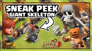 Clash of Clans Update! New Giant Skeleton and Pumpkin Barbarian Sneak Peek October 2017