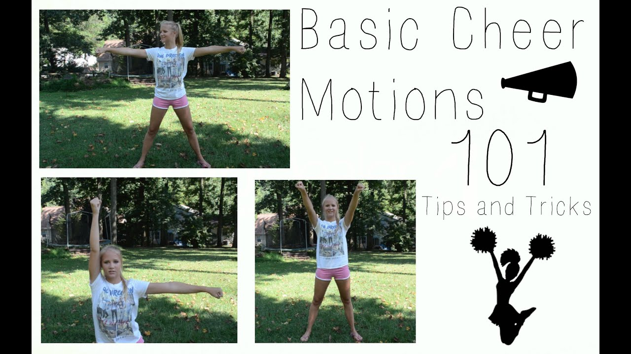Basic Cheer Motions 101 // Tips and Tricks - YouTube