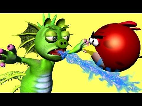GODZILLA 2014 ? -- ANGRY BIRDS vs. PIGZILLA ! - 3D animated  movie mashup FunVideoTV - Style ;-))