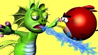 GODZILLA 2014 ? -- ANGRY BIRDS vs. PIGZILLA ! - 3D animated  movie mashup FunVideoTV - Style ;-))
