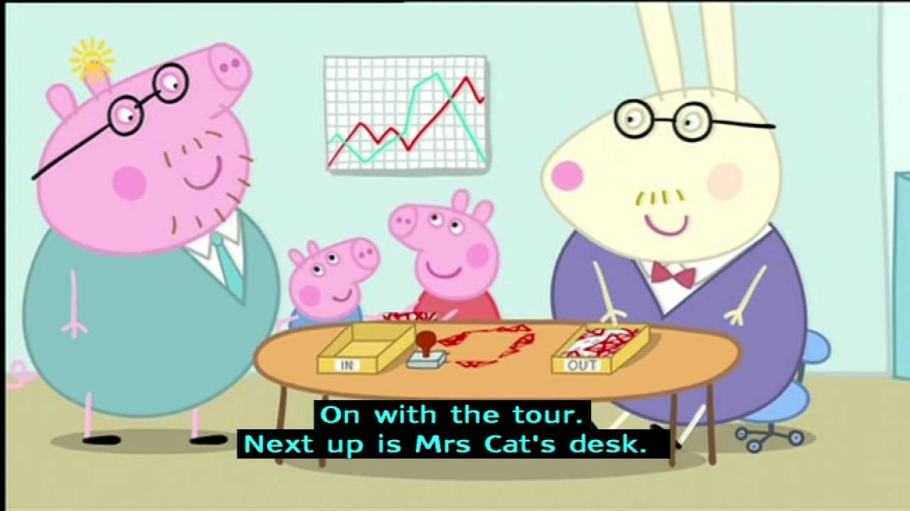 Peppa Pig (Series 2) - Daddy Pig\'s Office (with subtitles) - YouTube