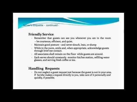 banquet server training youtube rh youtube com Special Event Training Manual Hotel Training Manual