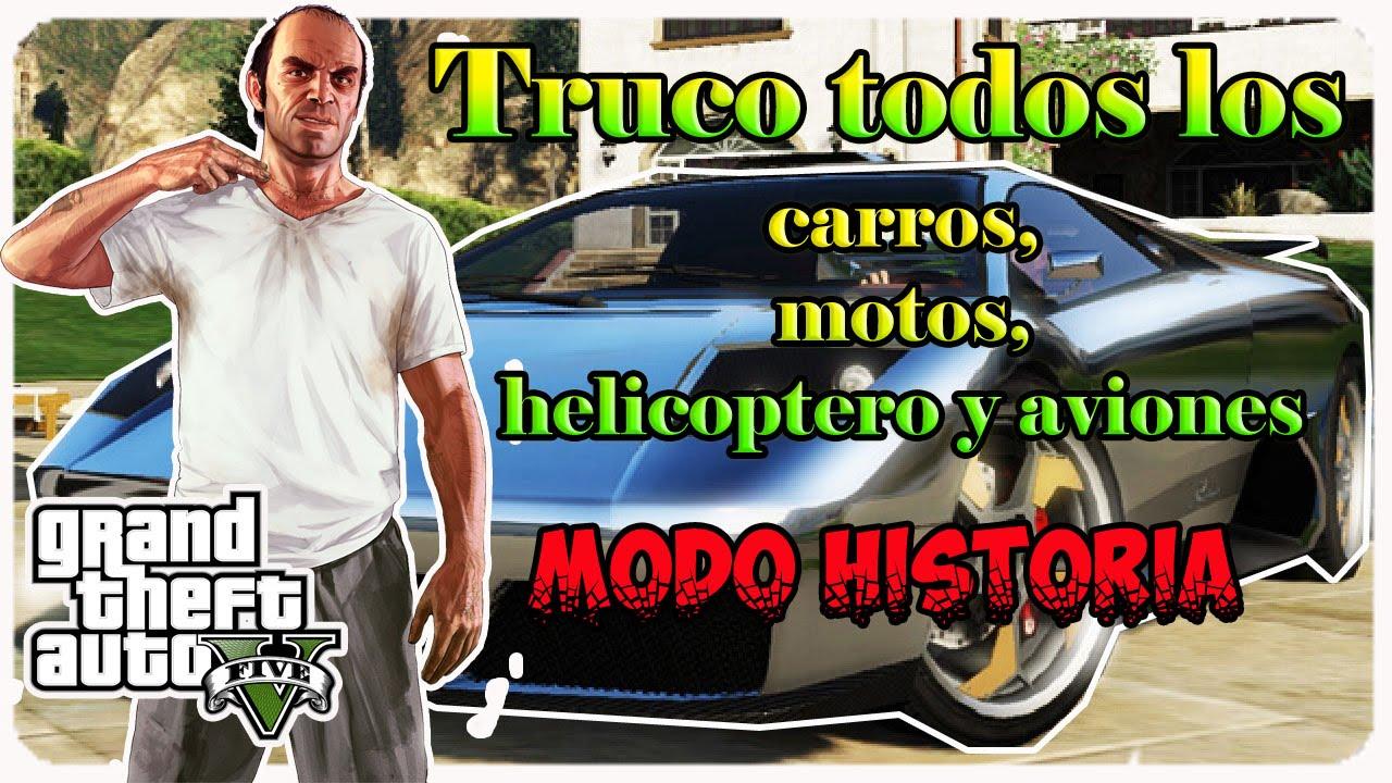 Gta V Truco Todos Los Carros Motos Helicoptero Y Aviones Ps3 Xbox