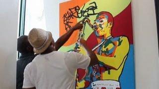 Inventor of Lagos Afro Pop Art exhibits in Nigeria