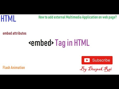 Embed Tag In HTML