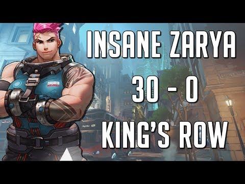 30-0 Zarya Quickplay Stomp Kingsrow Attack - SPREE (Project Zarya PART 2)