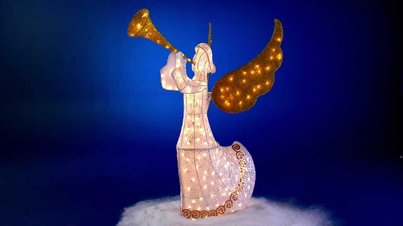 animated christmas angel holiday decoration