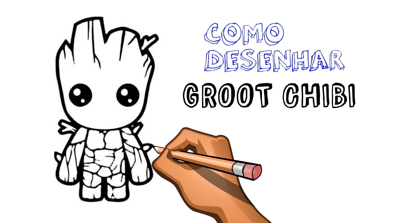 How to draw GROOT (Chibi) - YouTube