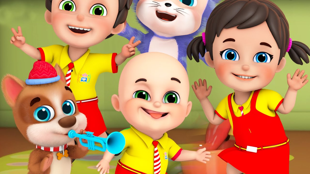 If You're Happy and You Know It | stay happy at home | Jugnu Kids nursery rhymes & kids songs