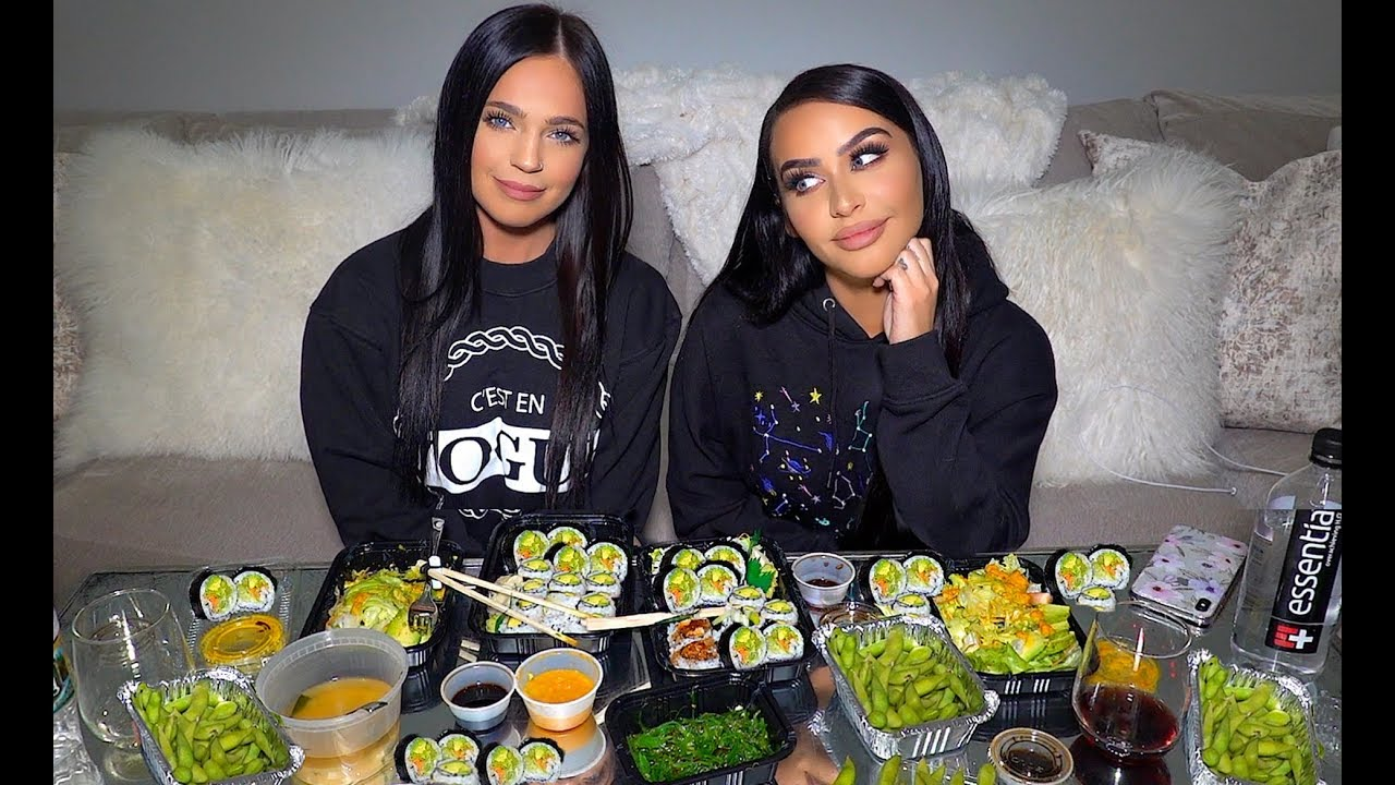 vegan-sushi-mukbang-q-eat-dinner-with-me