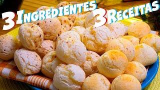 3 Formas Diferente de Fazer Pão de Queijo