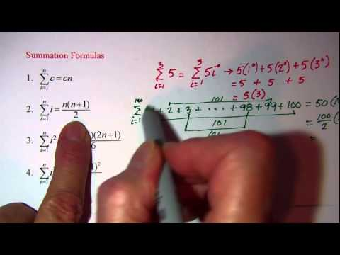 Summation Properties and Formulas