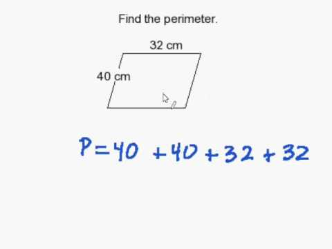 How to find the perimeter of a parallelogram youtube ccuart Gallery