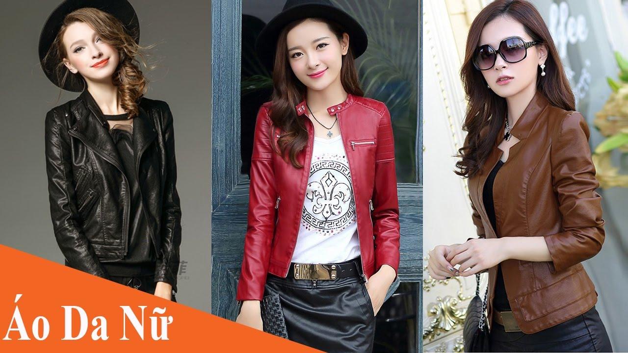 Top Mẫu áo da nữ đẹp phong cách đang được ưa thích hiện nay