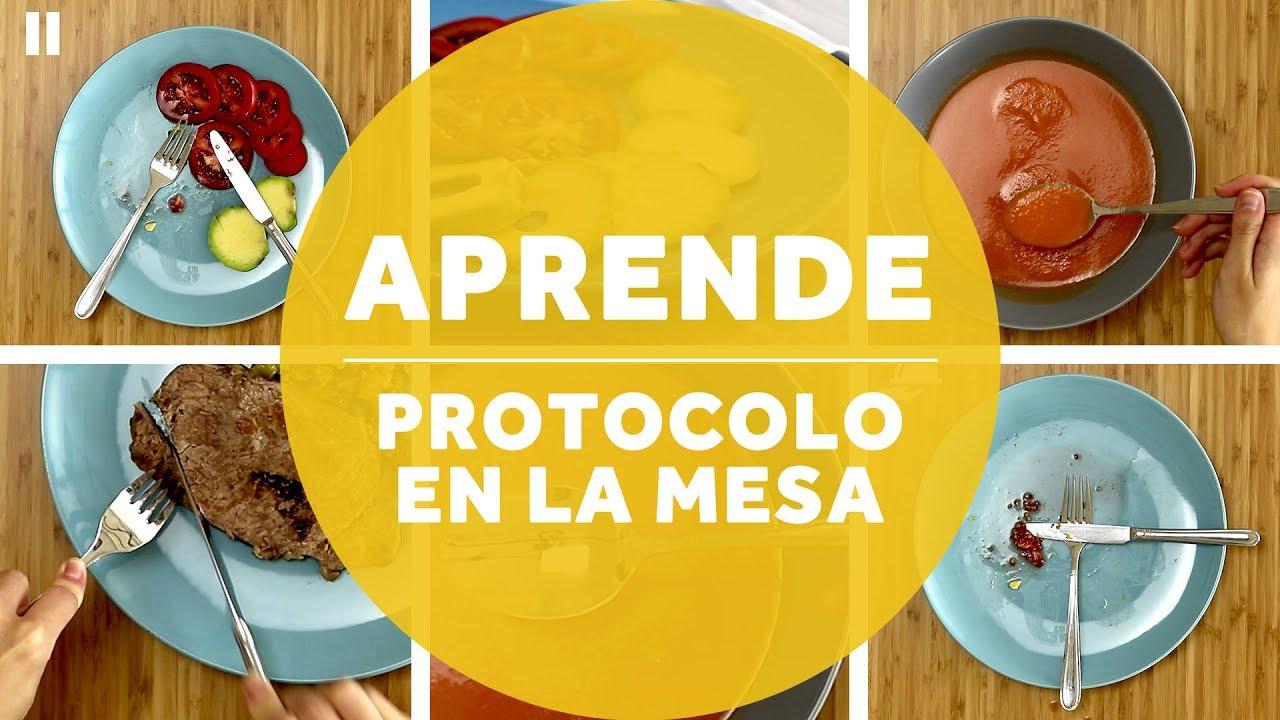 C mo poner los cubiertos en la mesa aprende protocolo - Protocolo cubiertos mesa ...