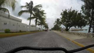 Time Lapse Golf Cart Ride around Isla Mujeres, Mexico, July 2015