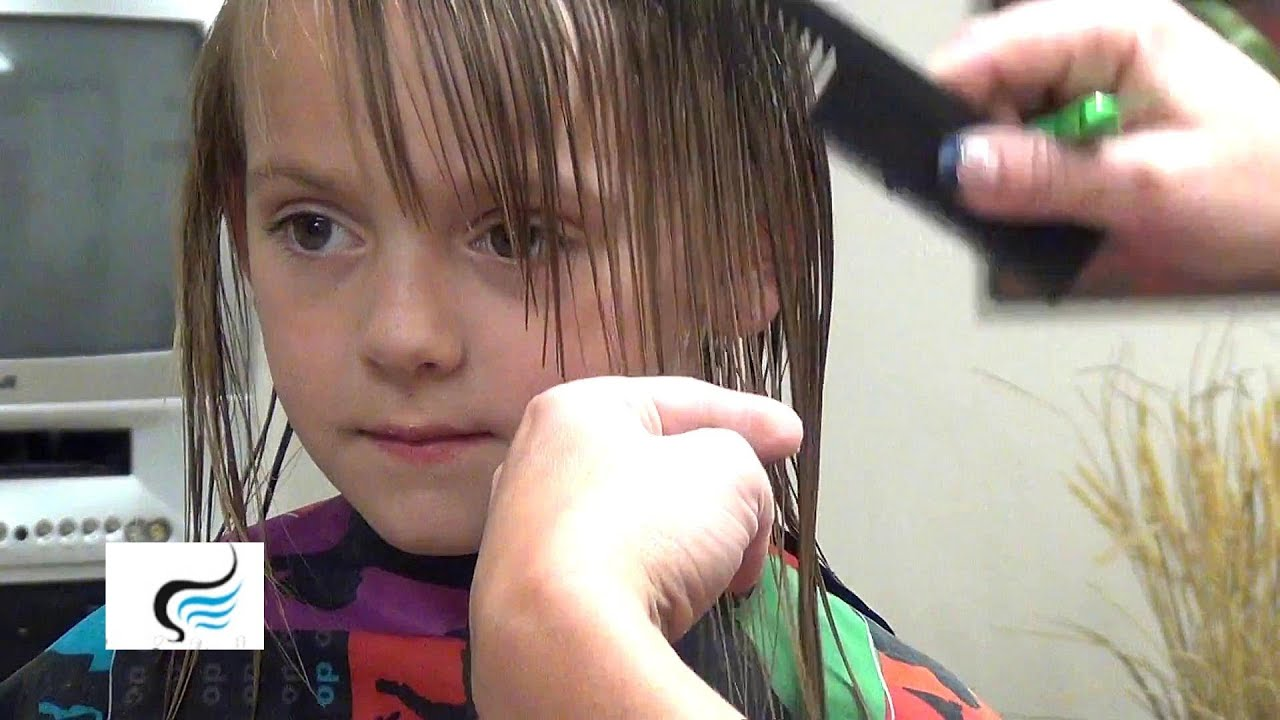How To Cut Hairstyles with Bangs Little Girls Haircut Tutorials
