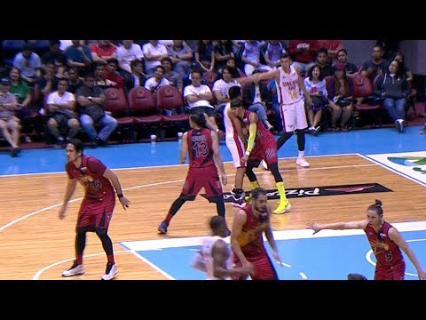 Arwind Santos EJECTED for Flagrant Foul 2 on Scottie Thompson (VIDEO)