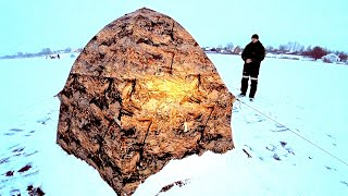 ТУЧА РЫБЫ ПОД ПАЛАТКОЙ Зимняя рыбалка в палатке на льду Подлещик Плотва Отличный клёв