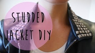 Quick DIY - Studded Leather Jackets