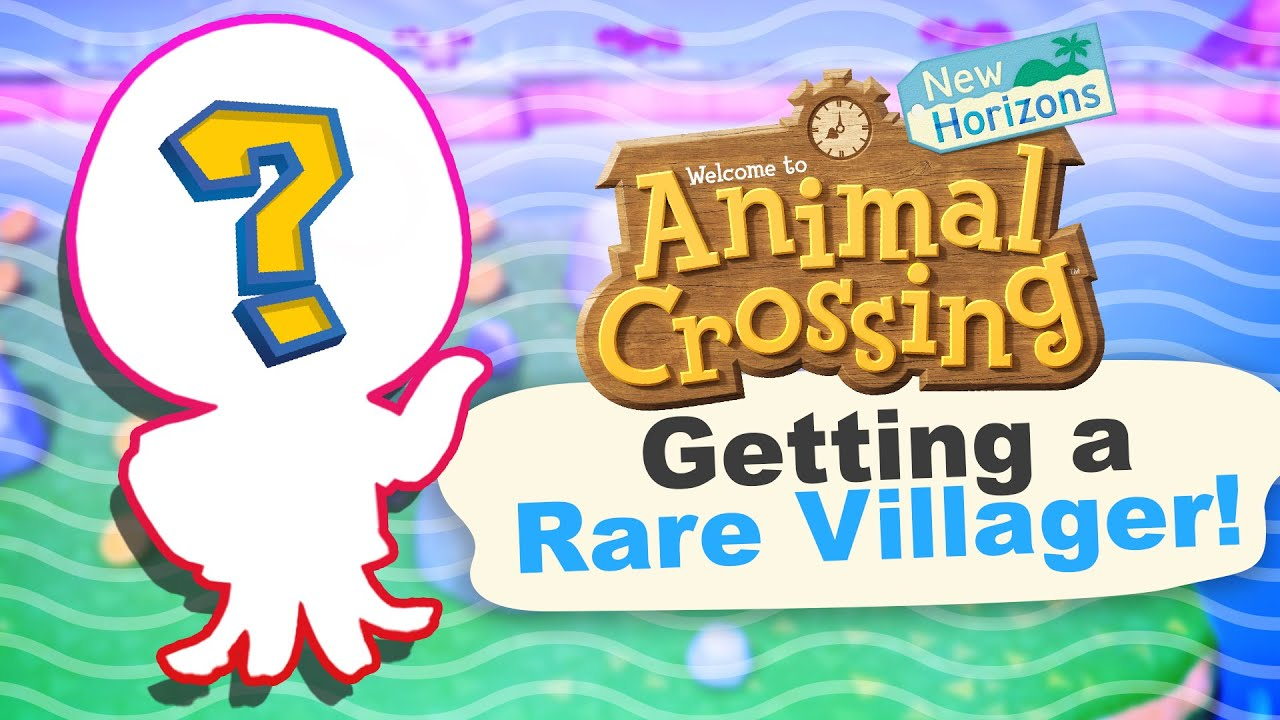 Finding a RARE Villager in Animal Crossing New Horizons ...