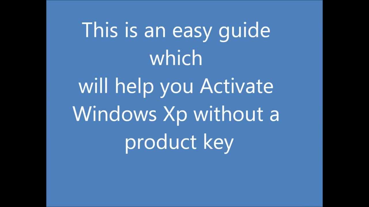 windows xp activate product key