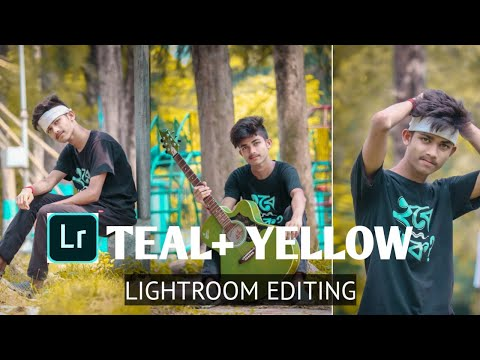 Lightroom Teal & Yellow Look Editing🔥  MJ EDITZ 