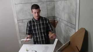 RetroShelf - Tile Shower Shelf Install Video - Incredibly Simple! Incredibly Strong!