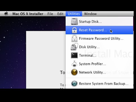 how to reset password on mac os x 10.6.8