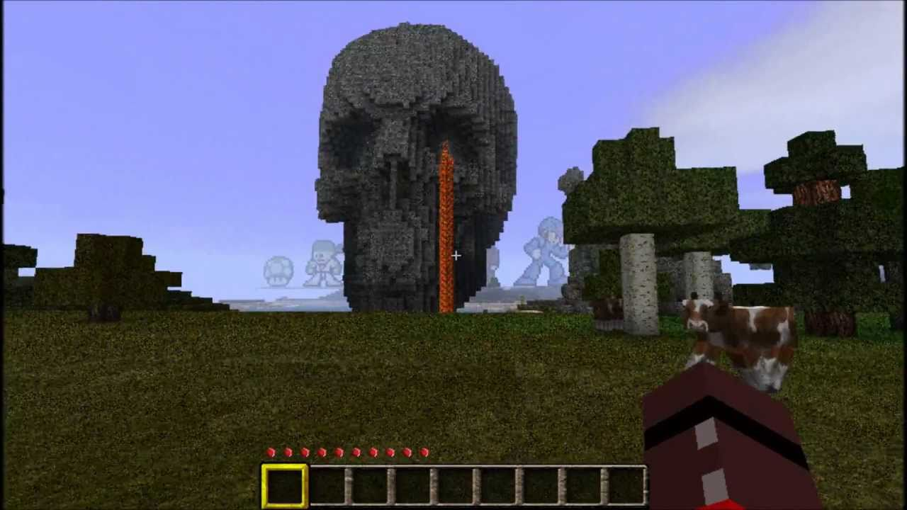 Minecraft Giant Skull And Half Life 2 Characters In HD   YouTube