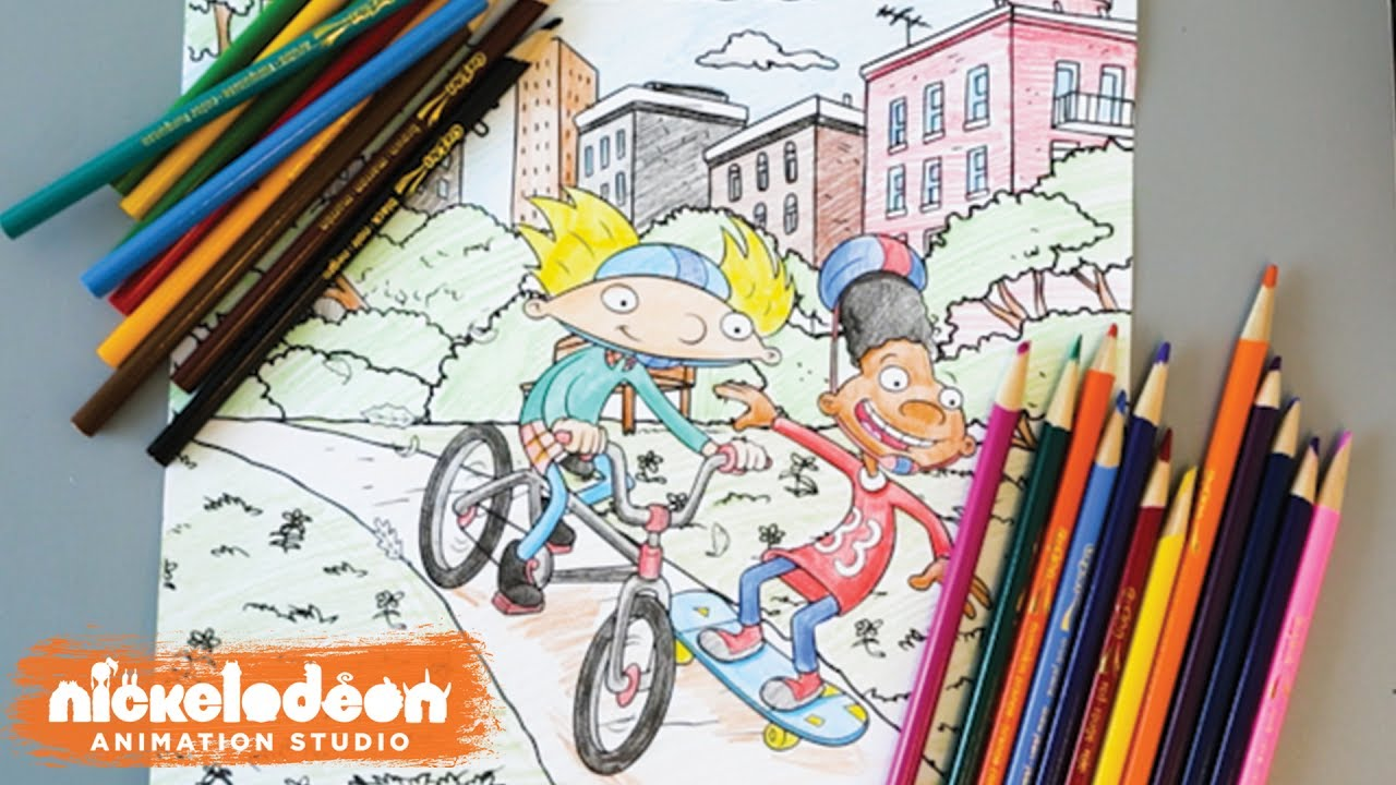 hey arnold coloring pages Hey Arnold! Coloring Page | Nick Swag | Nick Animation   YouTube hey arnold coloring pages