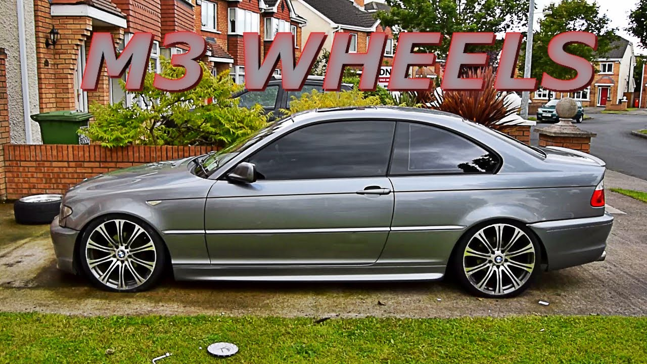 e92 m3 wheels on bmw e46 coupe youtube. Black Bedroom Furniture Sets. Home Design Ideas