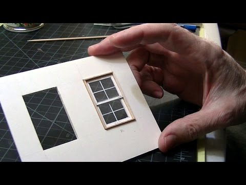 Basic Model Window Scratchbuilding